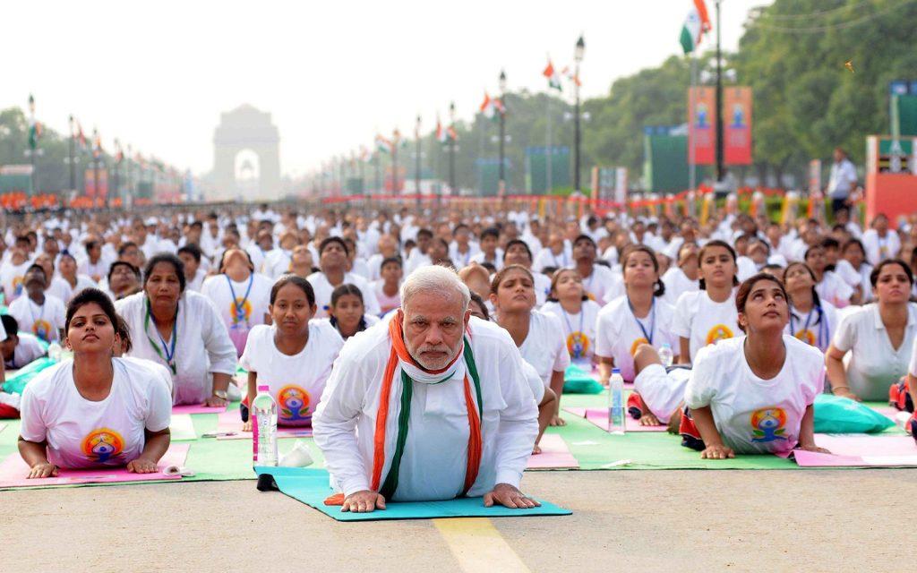 Yoga grupal en India