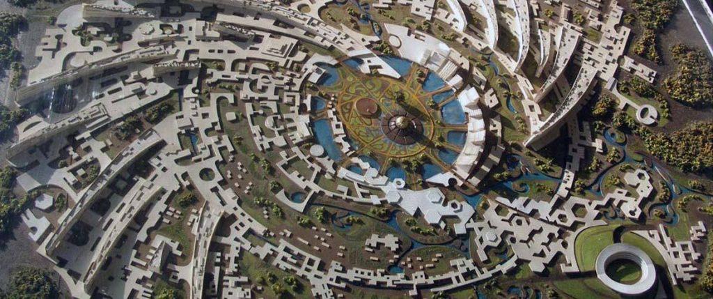 Auroville desde el cielo